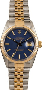 Used Rolex Datejust 16013 Blue Dial Oyster Perpetual