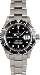 Rolex Oyster Perpetual Stainless Submariner 16610