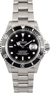 Rolex Oyster Perpetual Steel Submariner 16610 Black