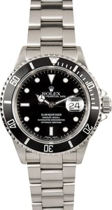 Rolex Oyster Perpetual Submariner 16610 Black Dial