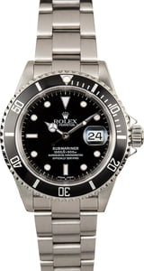 Rolex Oyster Perpetual Submariner 16610 Black Bezel