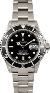 Rolex Oyster Perpetual Submariner Black 16610