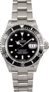 Rolex Oyster Submariner Serial Engraved 16610