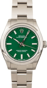 Green Rolex Oyster Perpetual 277200
