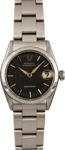 Pre-Owned Rolex OysterDate 6466 Black Dial