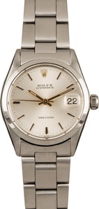 Used Rolex OysterDate 6466 Silver Dial