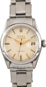 Pre-Owned Rolex OysterDate 6466 Silver Dial