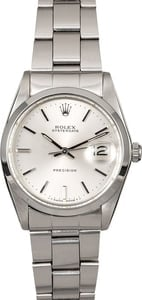 Certified Pre-Owned Rolex Oysterdate 6694 Silver