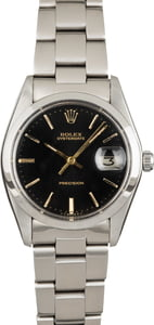 Rolex OysterDate 6694 Black Index Dial