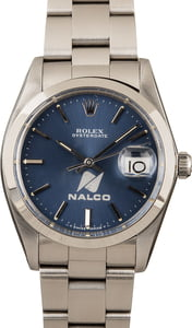 Rolex OysterDate 6694 Blue Nalco Dial