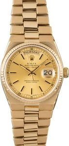 Rolex OysterQuartz Day-Date 19018 Yellow Gold Integral