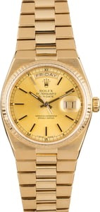 Rolex OysterQuartz Day-Date 19018 Champagne Index Dial