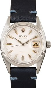 Pre-Owned Rolex Oysterdate 6494 Stainless Steel