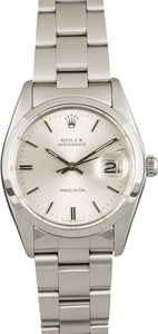 PreOwned Rolex OysterDate 6694 Silver Index Dial