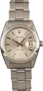 Pre Owned Rolex Oysterdate 6694 Silver Index