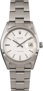 Pre Owned Rolex OysterDate 6694 Silver Index Dial