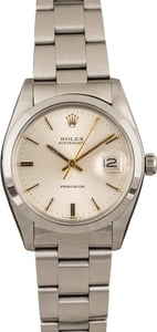 Used Rolex Oysterdate 6694 Silver Index T