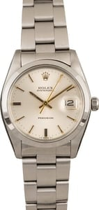 Used Rolex Oysterdate 6694 Silver Index