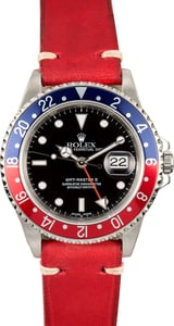 Rolex Pepsi GMT-Master II Leather Strap TT