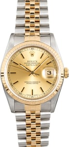 Rolex Pre-Owned Datejust 16233 Champagne Dial