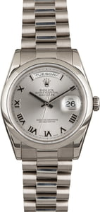 Rolex Day-Date 118209 White Gold President