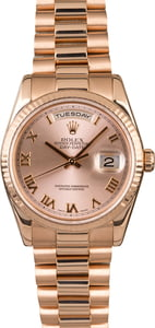 Rolex President Day-Date Everose Gold 118235