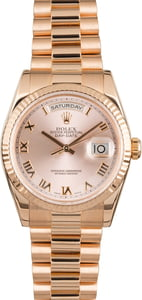 PreOwned Rolex President 118235 Day-Date Everose Gold