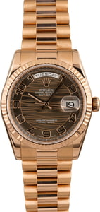 Pre Owned Rolex President 118235 Bronze Wave Dial