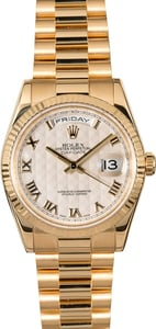PreOwned Rolex President 118238 Ivory Pyramid Dial