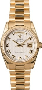Rolex President 118238 Ivory Pyramid Roman Dial
