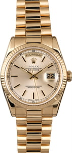 Rolex Day Date 118238 Silver Index Dial