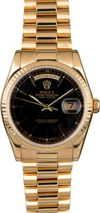 Rolex Day Date 118238 Black Dial