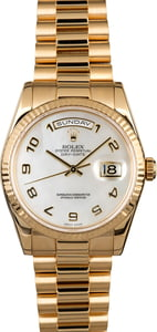 Rolex Day-Date 118238 Mother of Pearl Dial