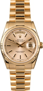 Rolex President 118238 Silver Index Dial