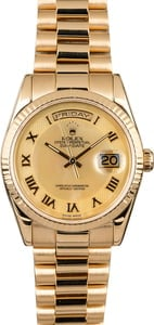 Rolex Day-Date 118238 Decorated Mother of Pearl Dial