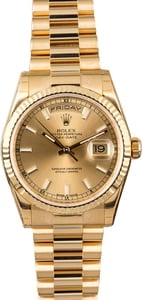 PreOwned Rolex Day-Date 118238 Yellow Gold President