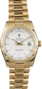Men's Rolex President 118238 White Luminescent Dial