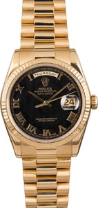 Rolex Day-Date 118238 Black Pyramid Roman Dial