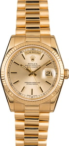 Rolex President Gold Day-Date 118238 Silver Dial