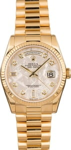 PreOwned Rolex President 118238 Meteorite Diamond Dial