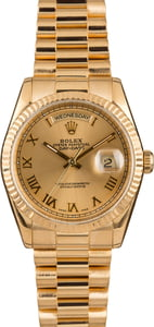 Used Rolex President Yellow Gold Day-Date 118238