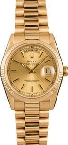 Pre-Owned Rolex President 118238 Champagne Dial