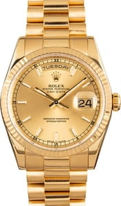 PreOwned Rolex President 118238 Yellow Gold