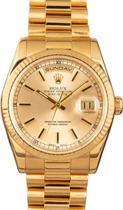 Rolex Day-Date 118238 Champagne Index Dial