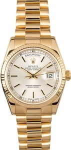 Rolex President 118238 Silver Dial