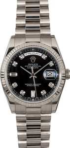 Rolex President 118239 Black Diamond Dial