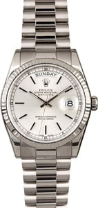 Rolex Day-Date 118239 White Gold President Band