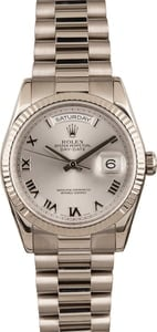 Pre Owned Rolex President 118239 Roman Dial