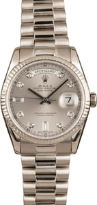 Pre-Owned Rolex Diamond President 118239 White Gold
