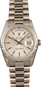 Pre Owned Rolex President 18k White Gold 18239
